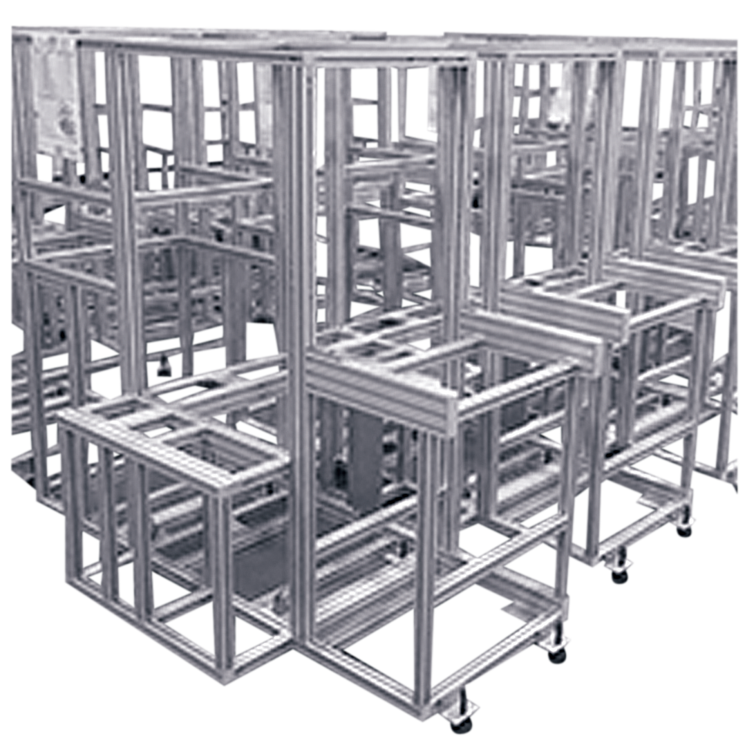 電気機械ユニット製作 アルミフレーム組立